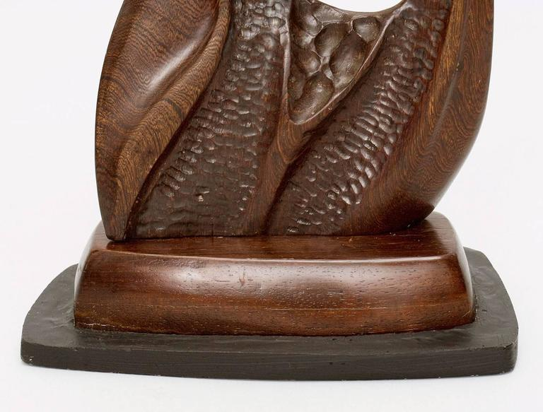 Carved Newell Weber Wood Biomorphic Sculpture For Sale