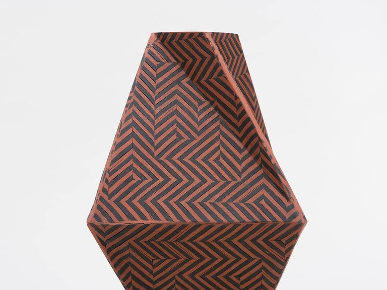 Tall Twisted Box Ceramic Vase by Cody Hoyt In Excellent Condition For Sale In New York, NY