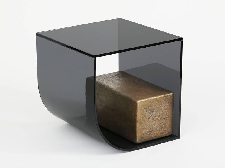 American Brian Thoreen Block Table For Sale