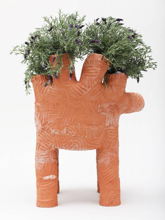 Contemporary Chris Wolston Terracotta Plant Chair For Sale