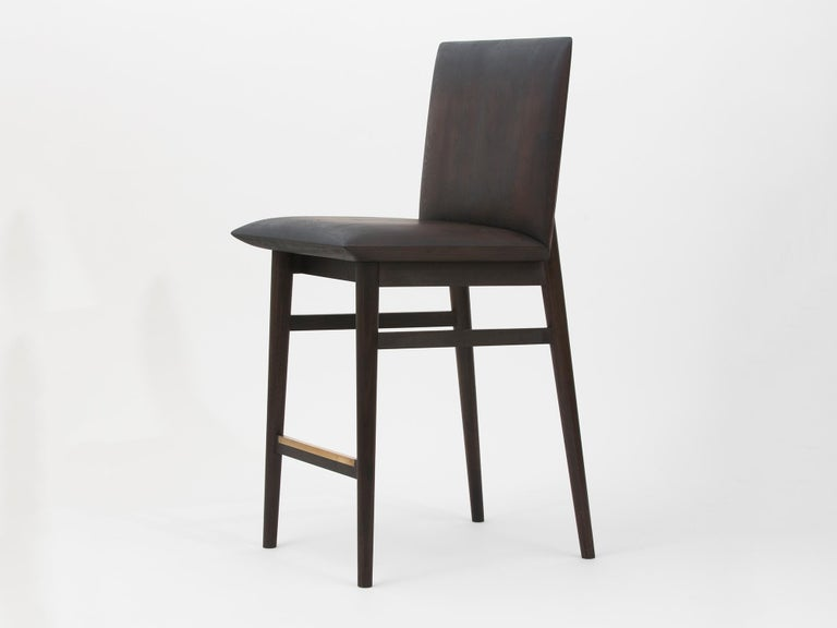 Redwood counter stool by Christopher Kurtz