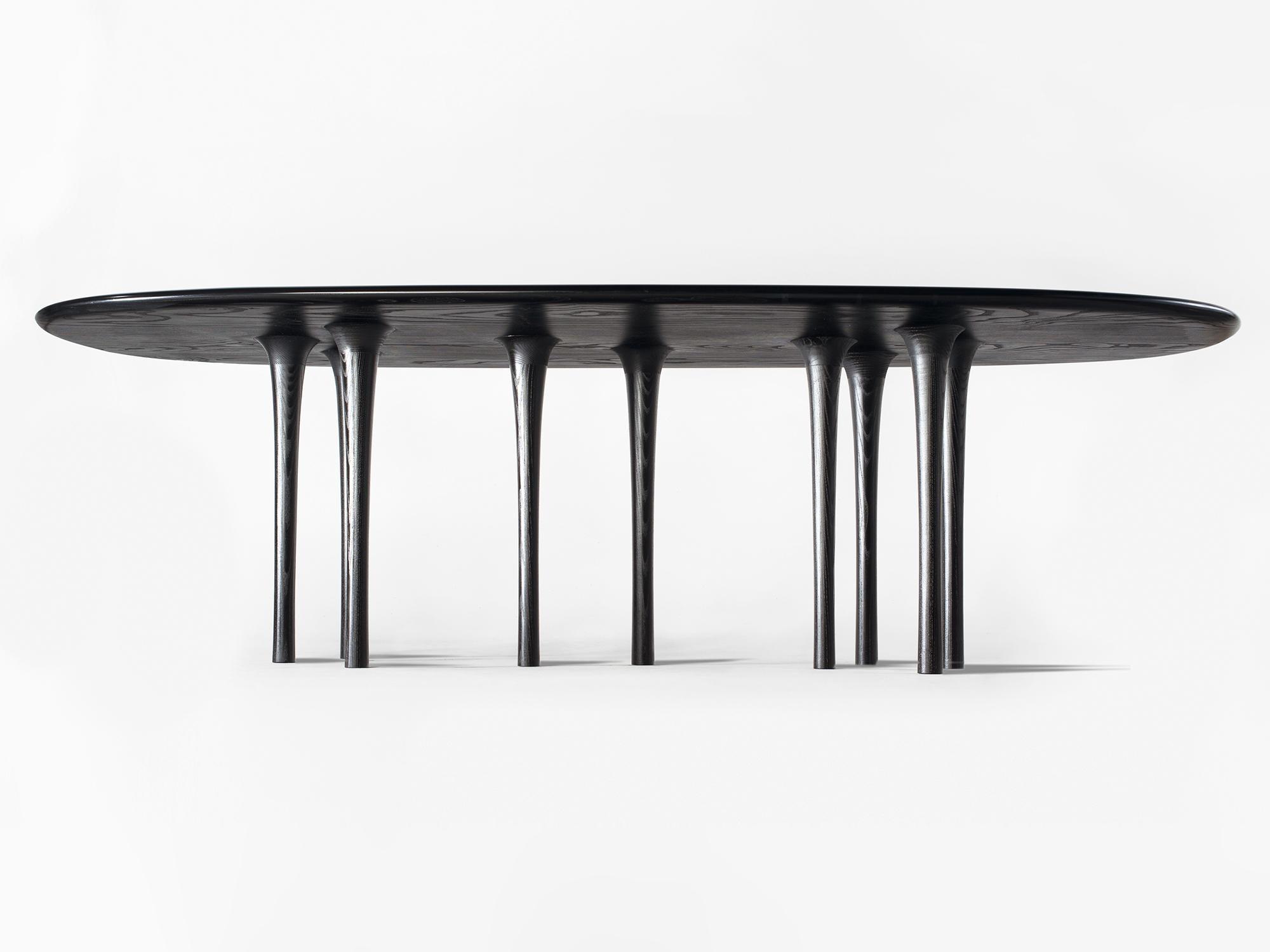 Hand Carved Wooden Dining Table By Hudson Valley Based Artist And Designer  Christopher Kurtz
