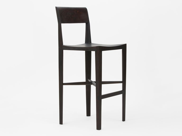 Quarter Round high-backed counter stool by Christopher Kurtz