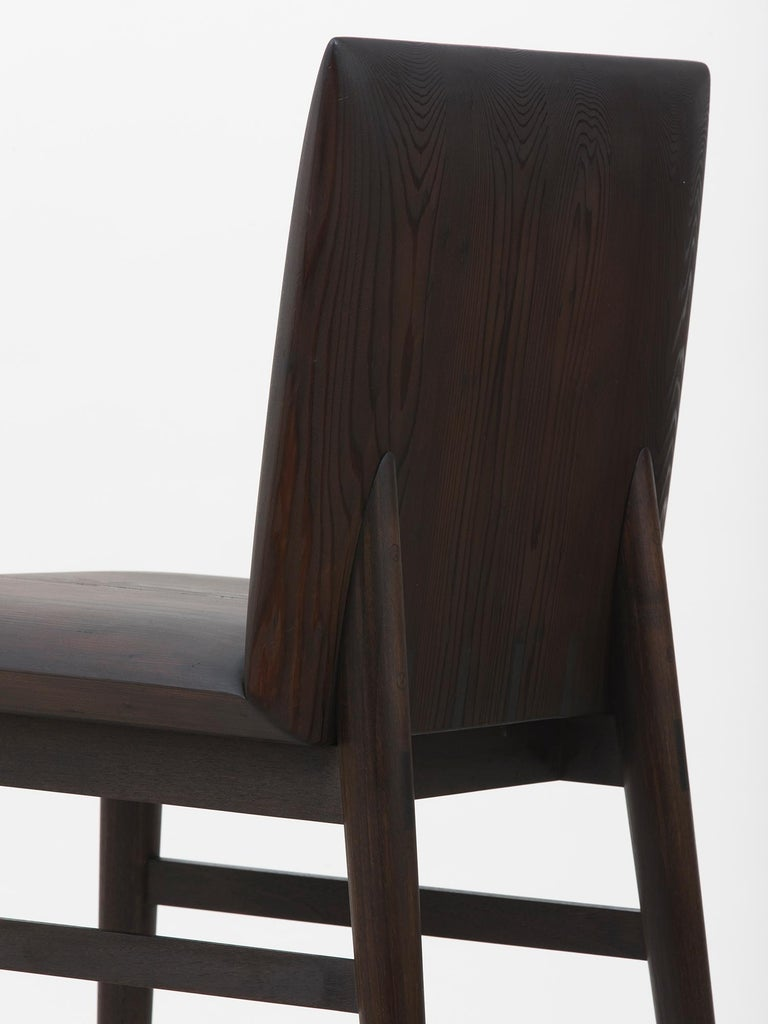 Hand-Carved Redwood Counter Stool by Christopher Kurtz In Excellent Condition For Sale In New York, NY