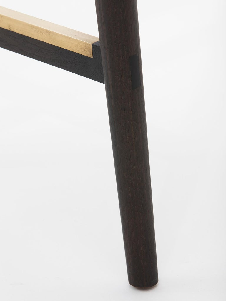 Hand-Carved Redwood Counter Stool by Christopher Kurtz For Sale 1