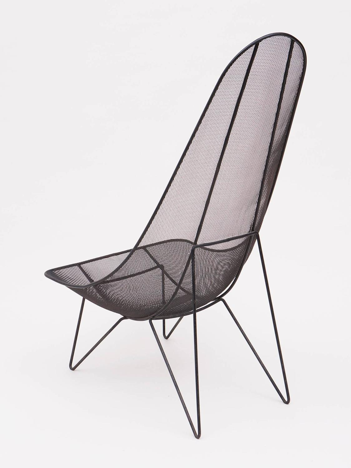 Sol Bloom Scoop High Back Mesh Lounge Chair For Sale at 1stdibs