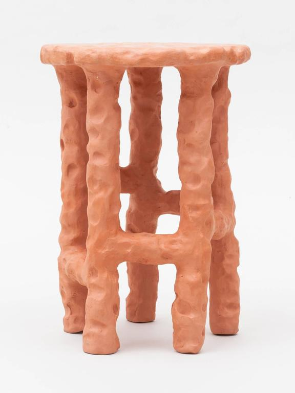 Terracotta Side Table by Chris Wolston 4