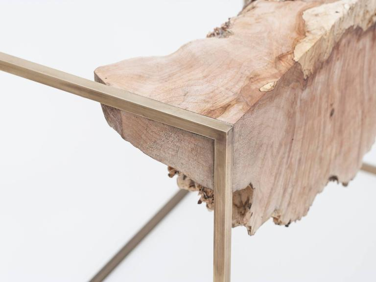 Bronze and Burl Wood Side Table by Huy Bui 2