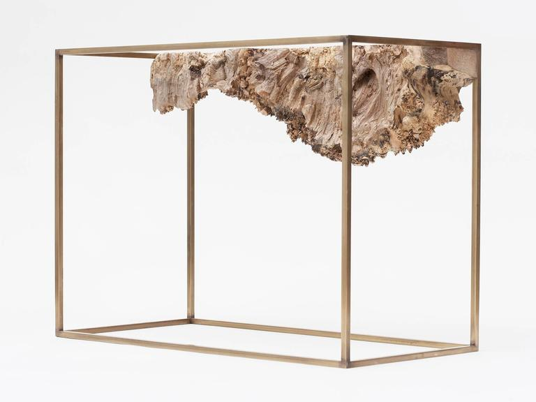 Bronze and Burl Wood Side Table by Huy Bui 3