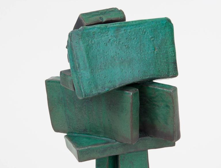 Glazed Modernist Ceramic Sculpture by Judy Engel For Sale