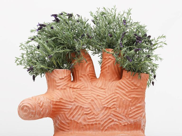Chris Wolston Terracotta Plant Chair For Sale 3