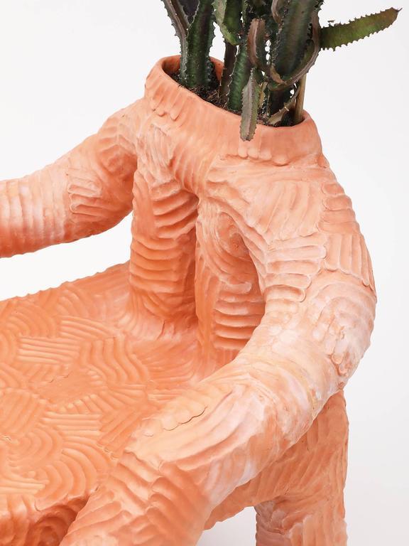 Chris Wolston Terracotta Plant Chair For Sale 1