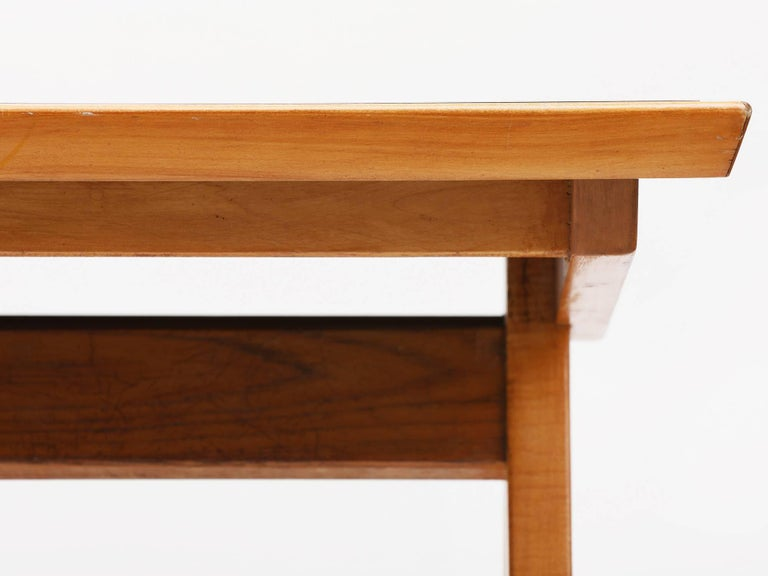 Mid-Century Modern 1940s Maple Dining Table with Leaf by Allan Gould For Sale