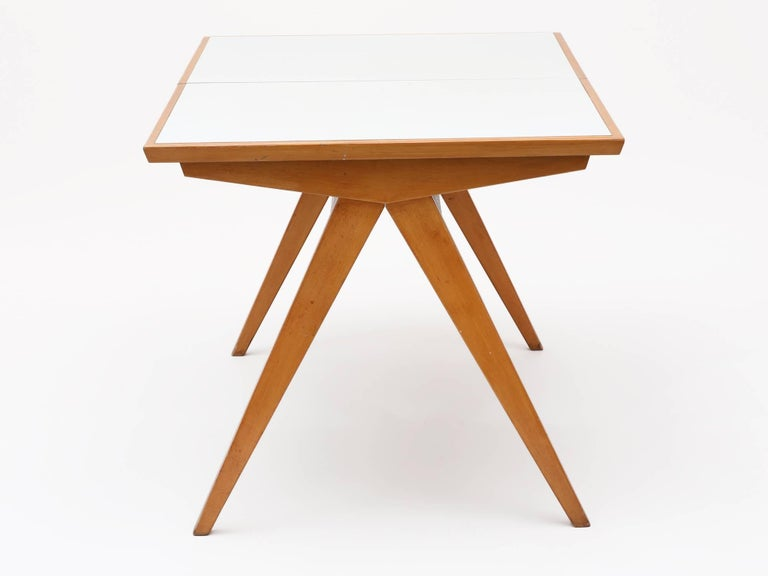 1940s Maple Dining Table with Leaf by Allan Gould 4