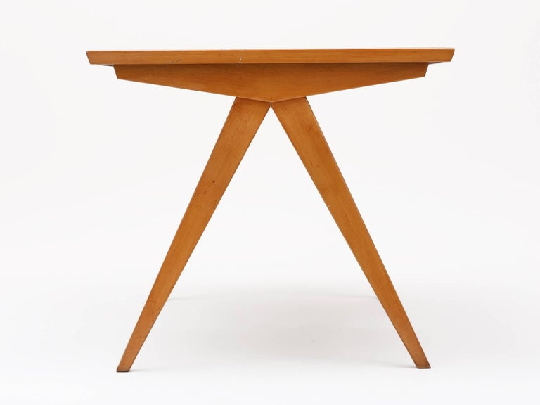 20th Century 1940s Maple Dining Table with Leaf by Allan Gould For Sale