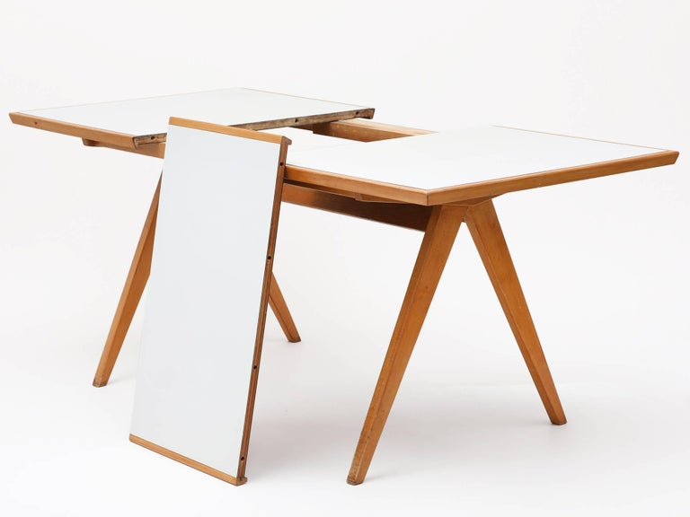 1940s Maple Dining Table with Leaf by Allan Gould 5