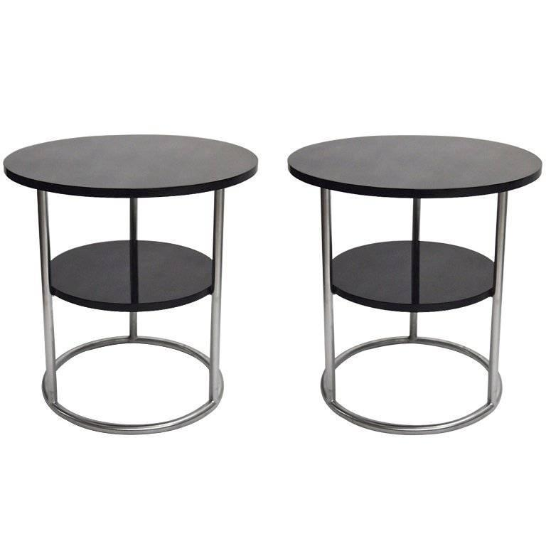 Pair of Side Tables, Thonet 1930s Design, Made in USA, circa 1975