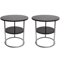 Pair of Side Tables, Thonet 1930s Design, Made in USA, circa 1980