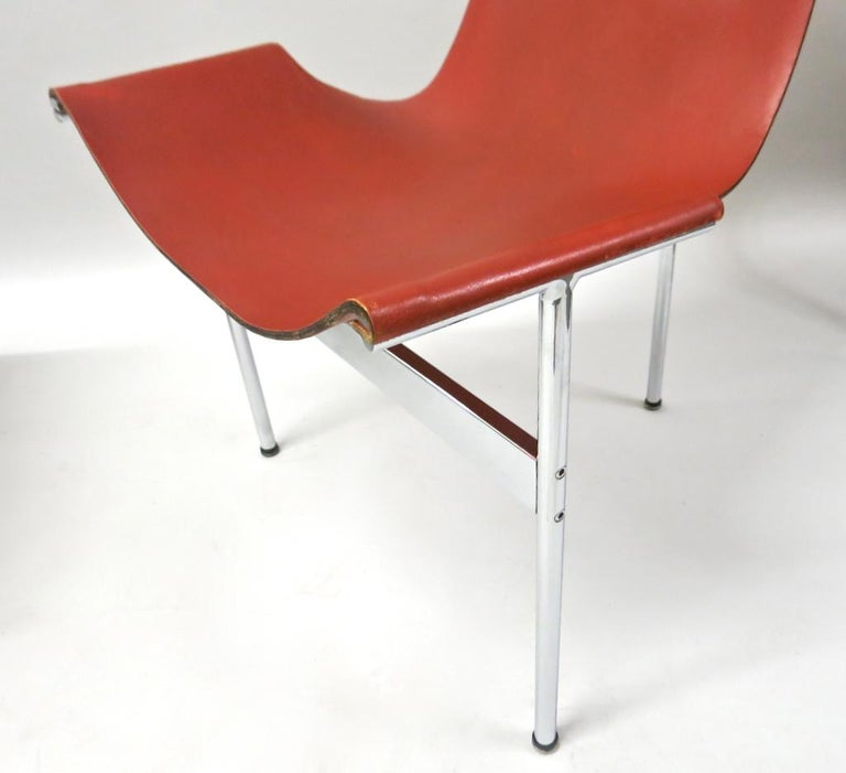 Mid-20th Century 2 Original T-Chairs by Katavolos, Kelly, Littell for Laverne, 1967 For Sale