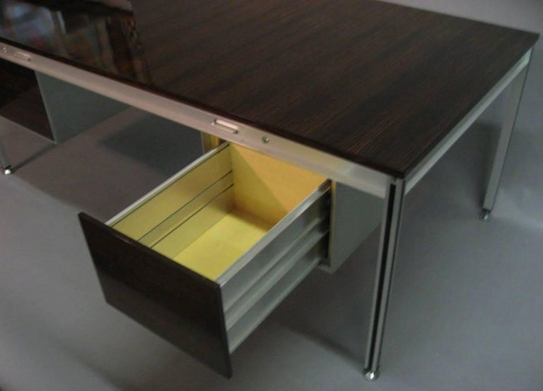 Executive Desk by C. Gaillard & H. Lesetre for TFM, France, circa 1965 In Excellent Condition For Sale In Jersey City, NJ