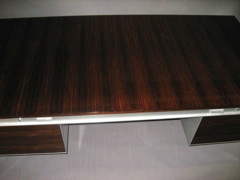 Mid-20th Century Executive Desk by C. Gaillard & H. Lesetre for TFM, France, circa 1965 For Sale