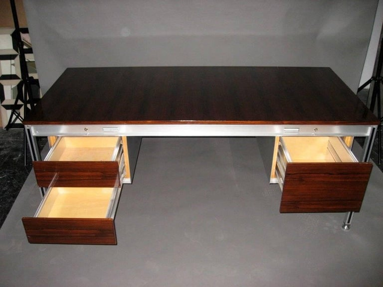 Mid-Century Modern Executive Desk by C. Gaillard & H. Lesetre for TFM, France, circa 1965 For Sale