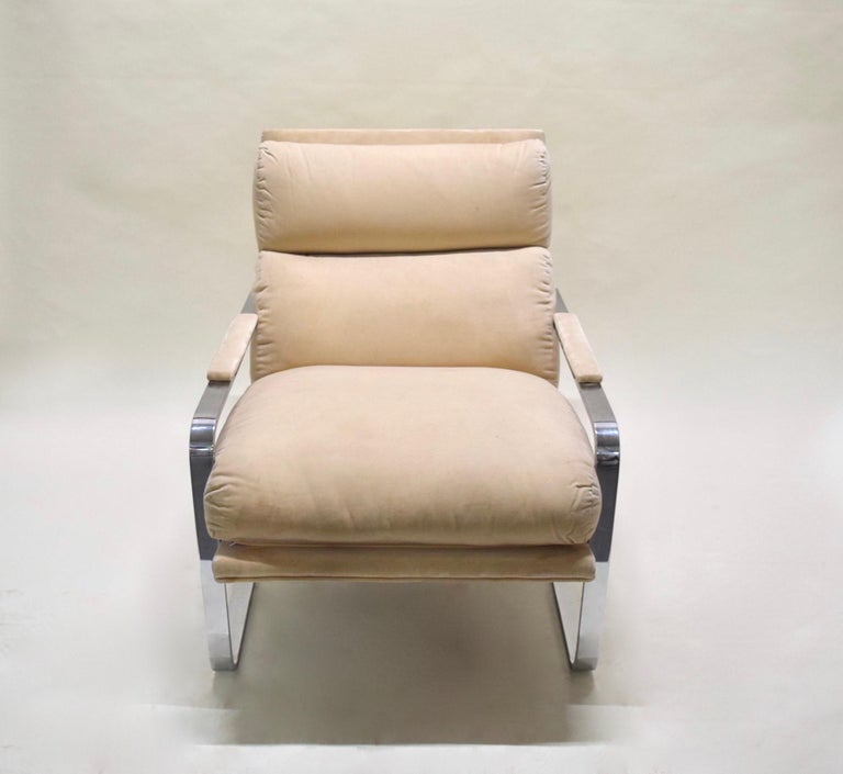 Lounge Chair by Milo Baughman for Thayer Coggin, USA, circa 1975 In Good Condition For Sale In Jersey City, NJ
