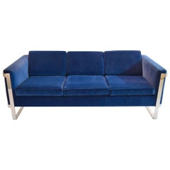 Three-Seat Sofa by Pace Collection, Recent Reupholstery, USA, circa 1975