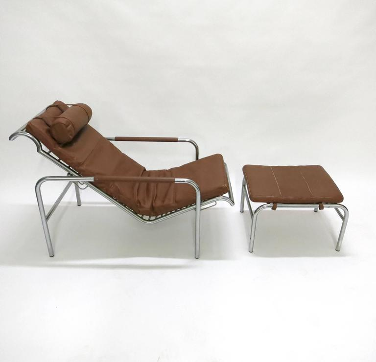 Genni Chaise And Ottoman Was Designed In 1935 By Gabriele Mucchi For Zanotta The Lounge