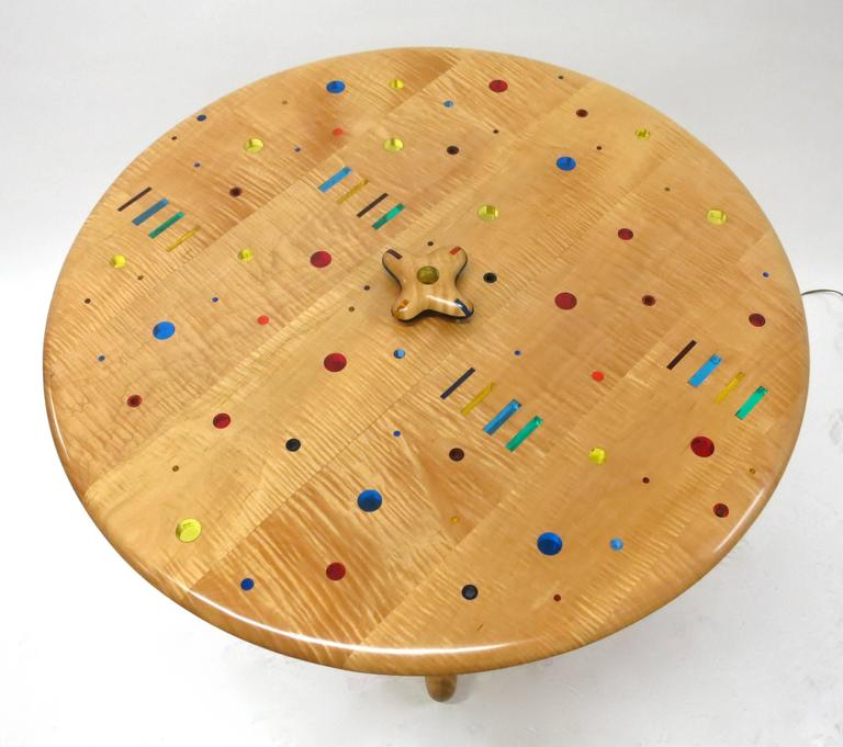 American Modern Unique, Single Commission Dining or Center Table By Daniel Peters 1999 For Sale