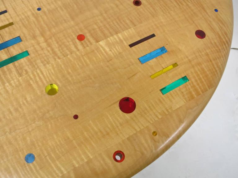 American Unique, Single Commission Dining or Center Table By Daniel Peters 1999 For Sale