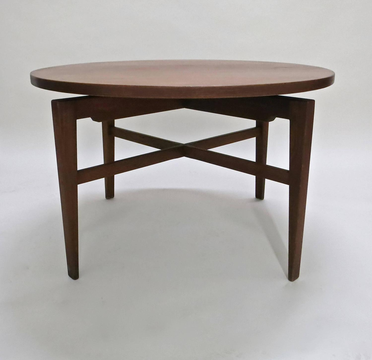 Rotating table by jens risom circa 1950 original for Dining room tables made in usa