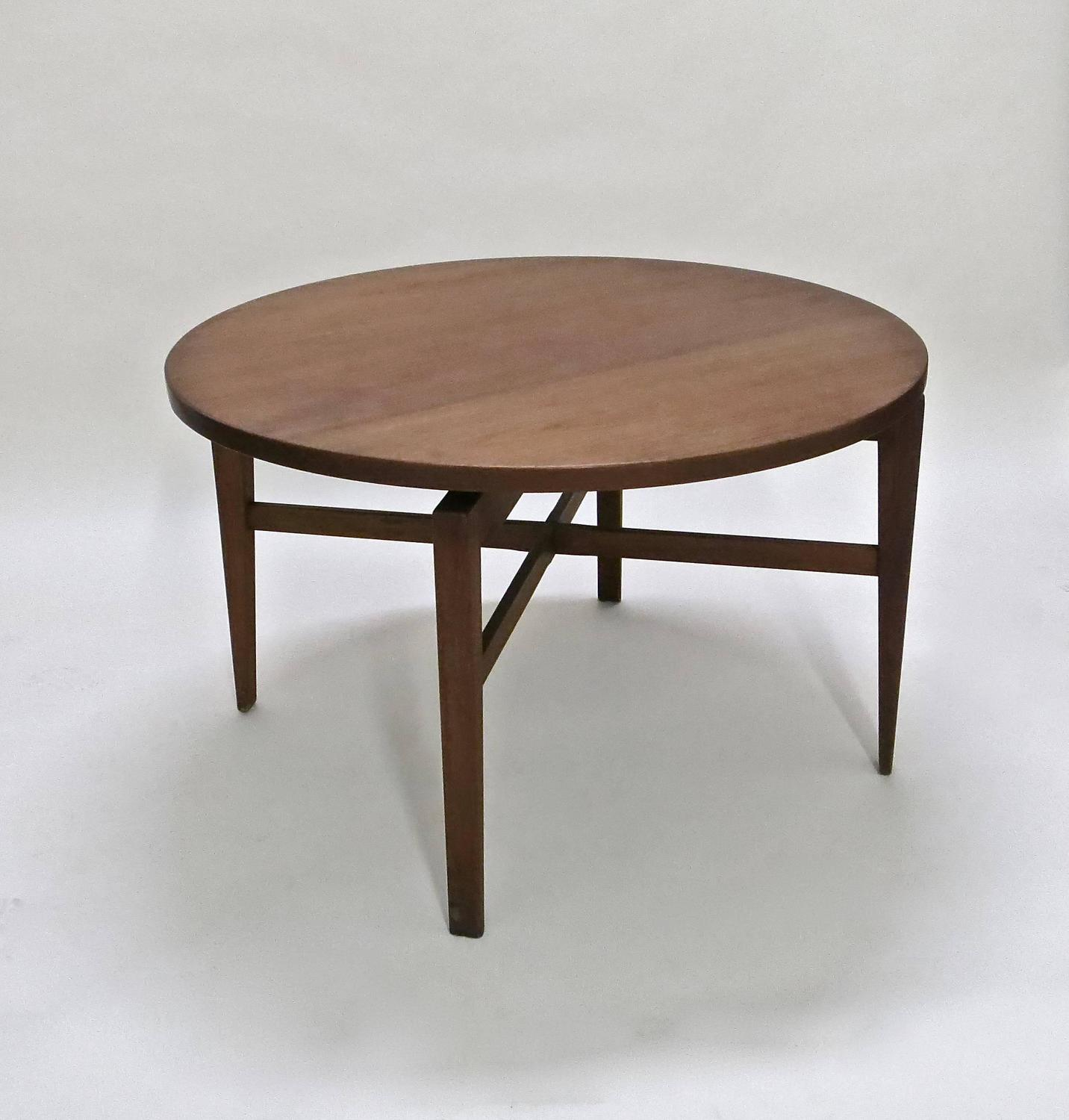 rotating table by jens risom circa 1950 original manufacturers label usa at 1stdibs. Black Bedroom Furniture Sets. Home Design Ideas