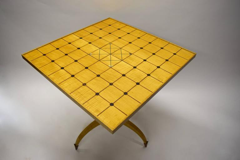 Late 20th Century Unique Tilt-Top Dining, Game, or Center Table by Dale Broholm, USA 1992 For Sale