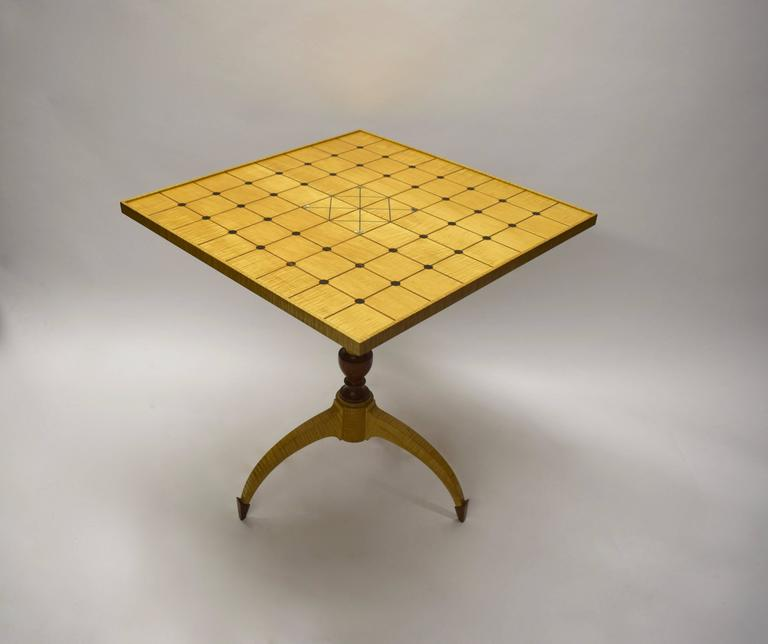 Unique Tilt-Top Dining, Game, or Center Table by Dale Broholm, USA 1992 For Sale 1