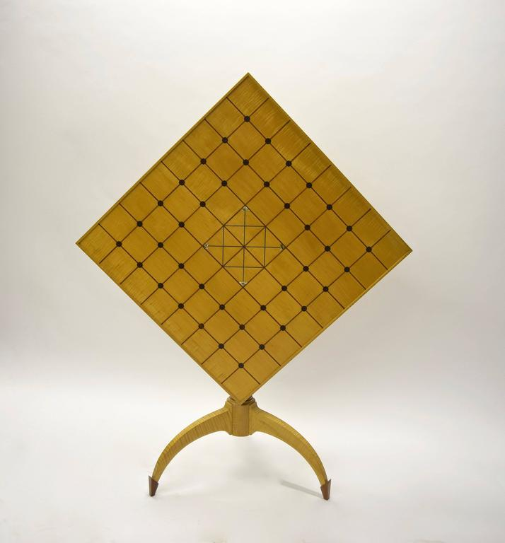 Unique Tilt-Top Dining, Game, or Center Table by Dale Broholm, USA 1992 For Sale 4
