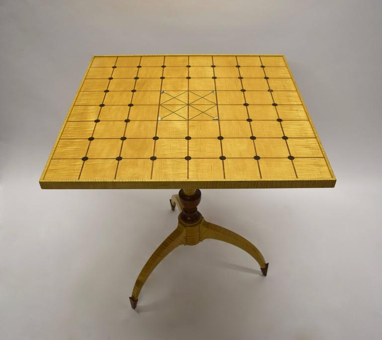 Unique Tilt-Top Dining, Game, or Center Table by Dale Broholm, USA 1992 For Sale 2