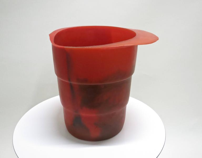 Modern Ice Bucket / Vase by Gaetano Pesce, Fish Design  Purchased in NYC 1990's For Sale