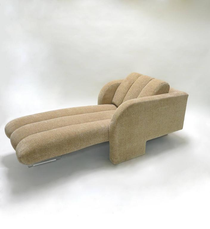 Chaise longue lounge chair by vladimir kagan 1970s for for Chaise interiors inc