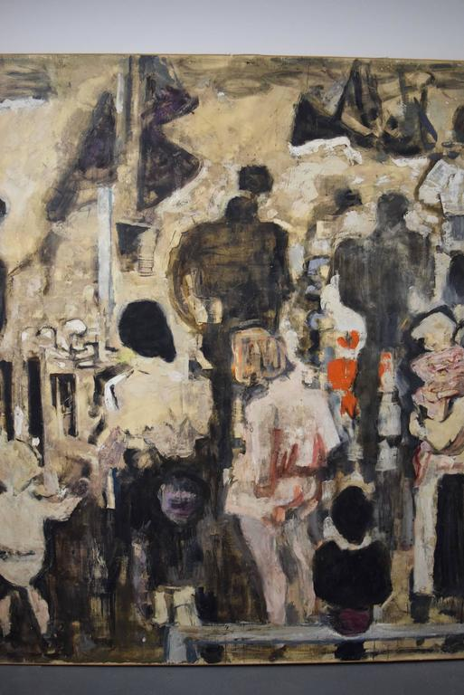 Beautiful Large-Scale Port-Scene Painting, Alexandre Sacha Garbell, France, 1967 For Sale 2