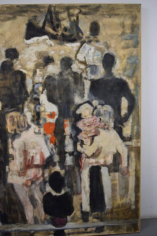 Beautiful Large-Scale Port-Scene Painting, Alexandre Sacha Garbell, France, 1967 For Sale 3