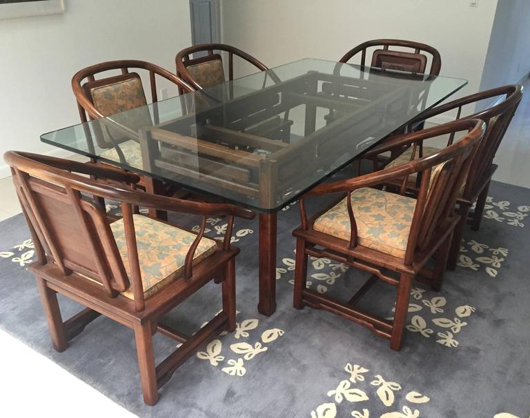 Dining Set in the Manner of James Mont, USA, circa 1960 2