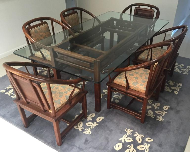 Dining Set in the Manner of James Mont, USA, circa 1960 3
