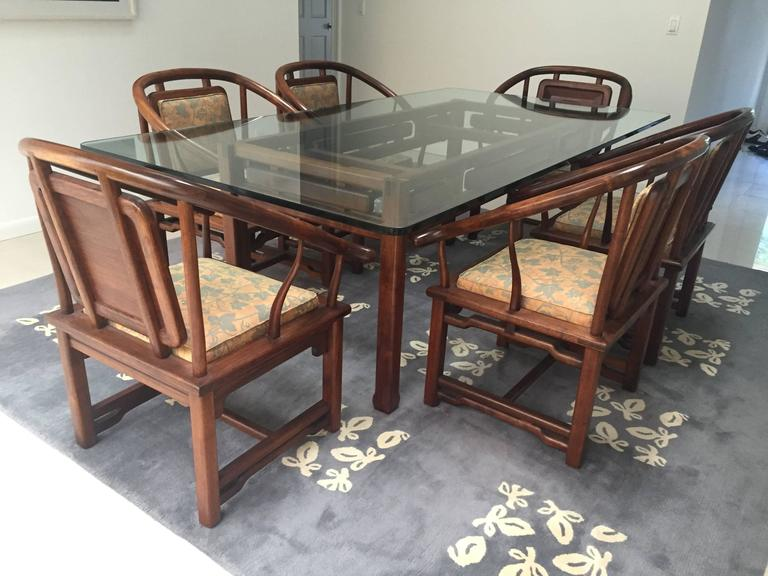 Dining Set in the Manner of James Mont, USA, circa 1960 4
