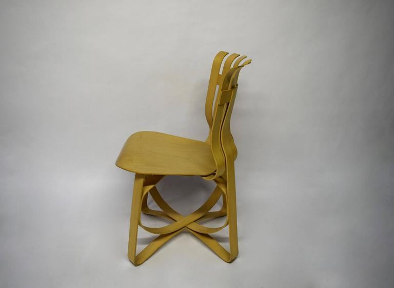 Dining Table and Four Chairs Designed by Frank Gehry for Knoll 1997, USA For Sale 1