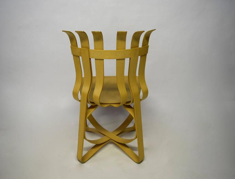 Dining Table and Four Chairs Designed by Frank Gehry for Knoll 1997, USA For Sale 2