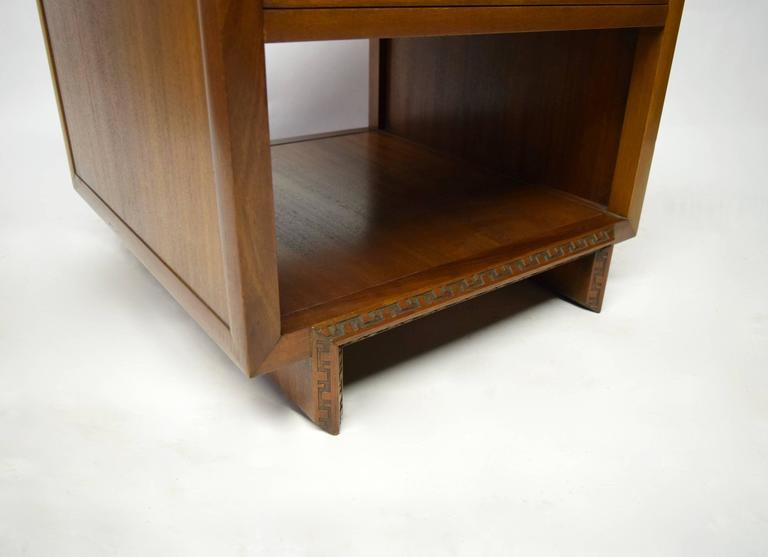 Pair Of Side Tables By Frank Lloyd Wright For Heritage Henredon 1955 1956 Usa At 1stdibs
