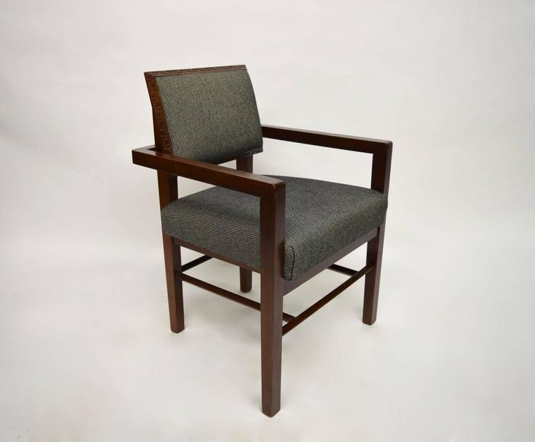 Set Of Eight Taliesin Dining Chairs By Frank Lloyd Wright