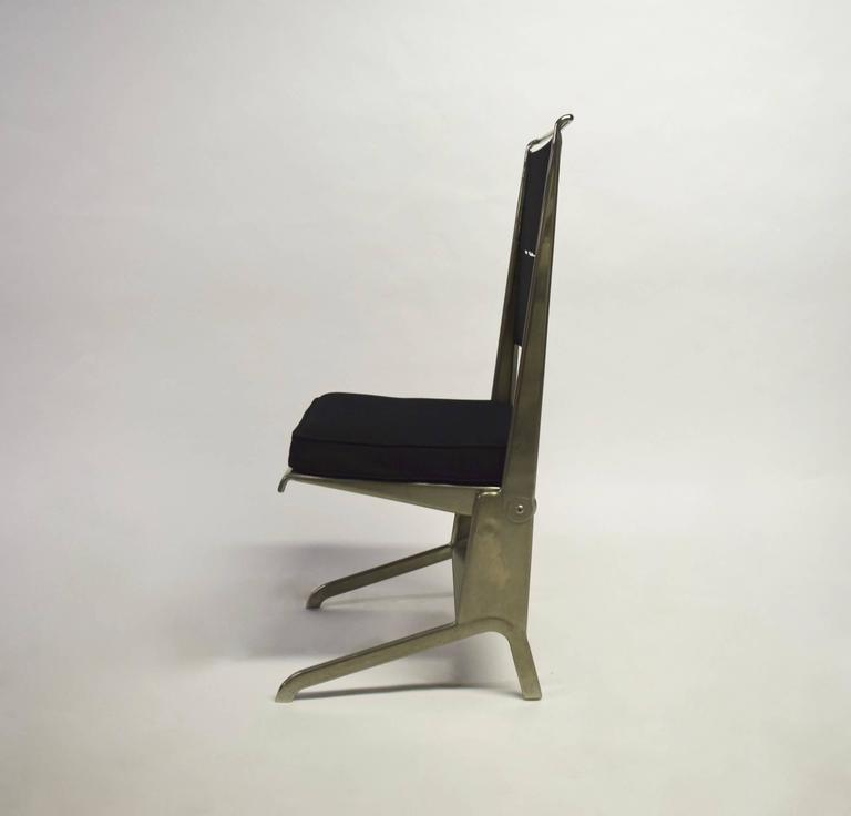 Pair of Jean Prouvé Folding Chairs Designed 1930, Manufactured by Tecta 1983 4