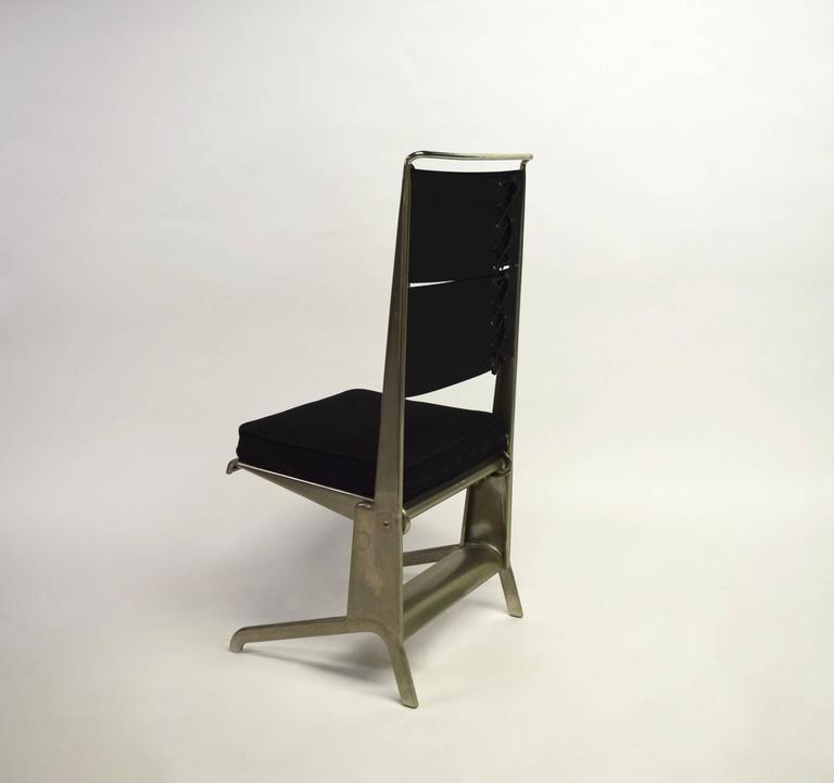 Pair of Jean Prouvé Folding Chairs Designed 1930, Manufactured by Tecta 1983 5